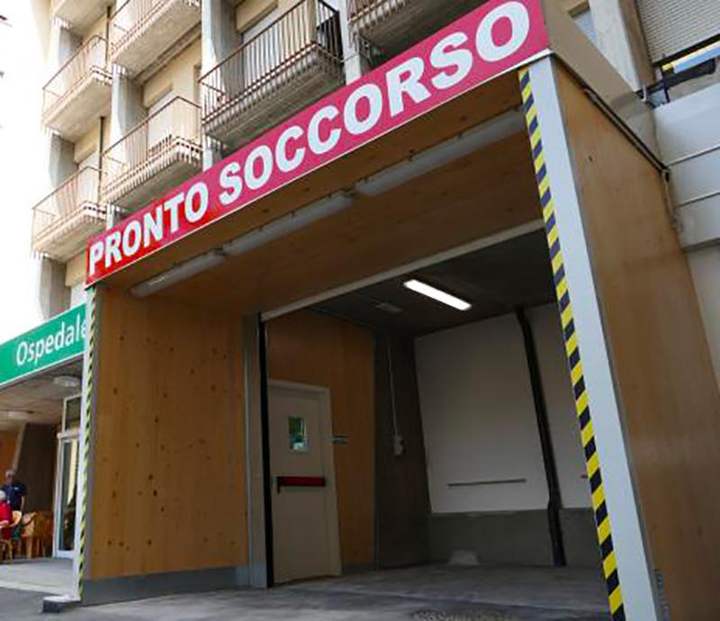Ospedale Pavullo Impianti Elettrici del Pronto Soccorso Temporaneo | A&G ELETTRO