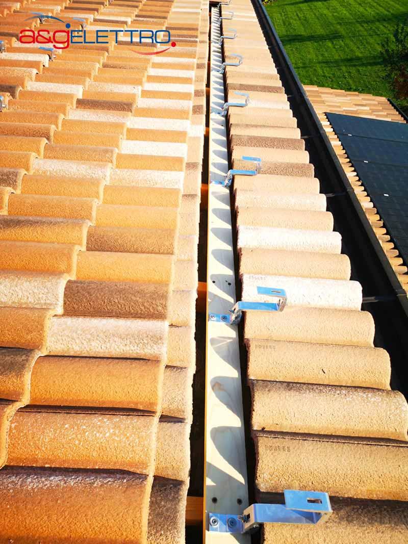 Fissaggio supporti in alluminio impianto Fotovoltaico | A&G Elettro
