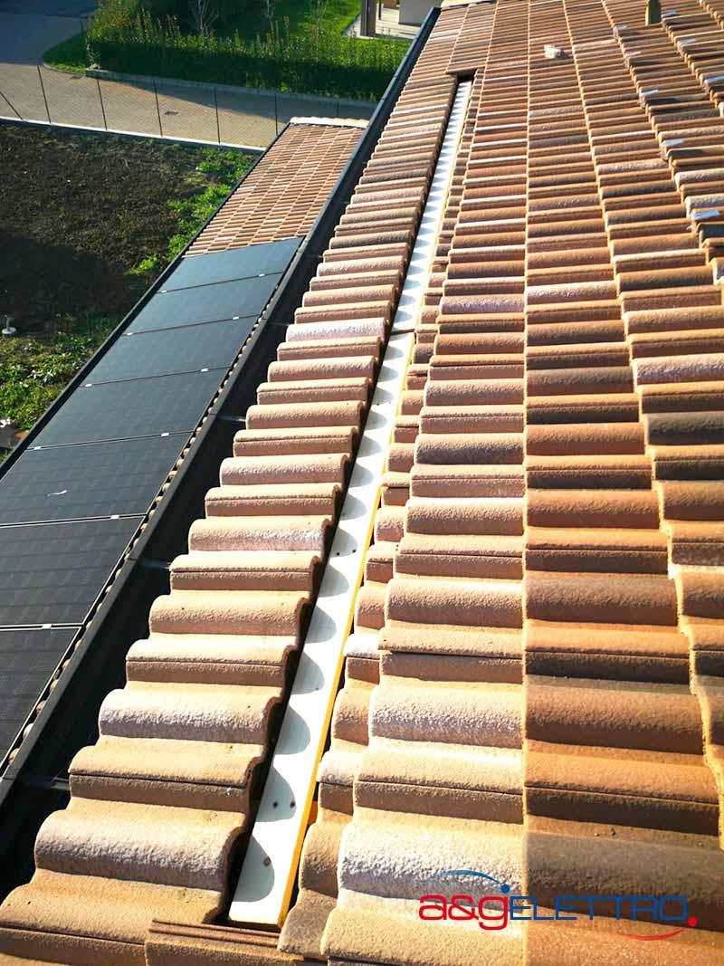 Fissaggio dei supporti in legno sul tavolato del tetto impianto Fotovoltaico | A&G Elettro