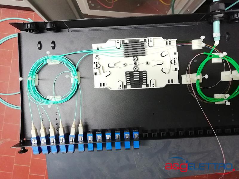 Innesto pigtail nelle rispettive bussole installazione fibra ottica | A&G Elettro